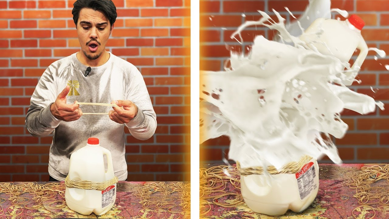rubber-bands-vs-milk-explosion-challenge