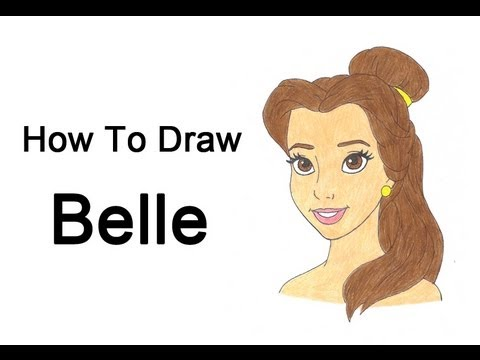 How To Draw Belle From Disney S Beauty And The Beast Youtube