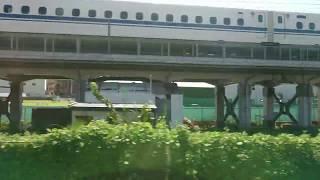 【車窓】阪急京都線9300系特急~新幹線プチ並走~