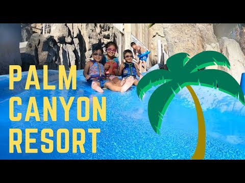 Family Vacation to Palm Canyon Resort in Palm Springs Water Slide