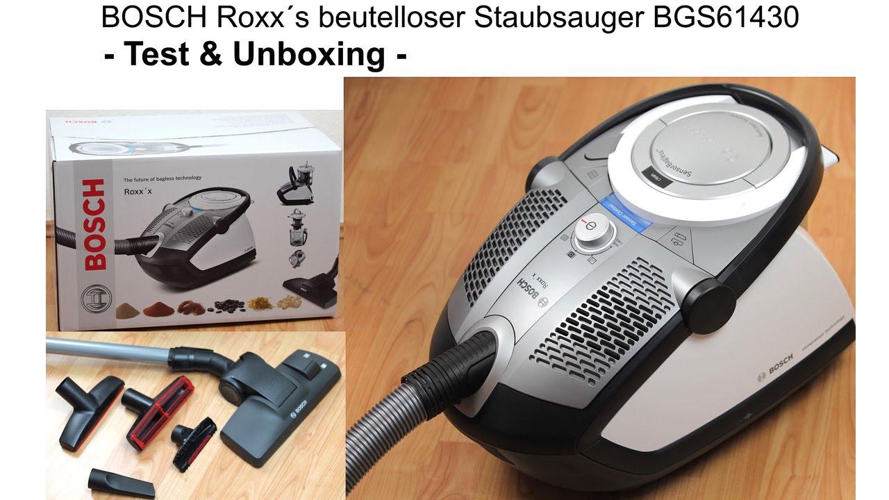 Produkt Test   Bosch Roxxs beutelloser Staubsauger ...