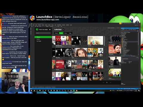Building the Music Box Alpha Albums View - 2017-10-03 - Unbroken Software Development Live Streams
