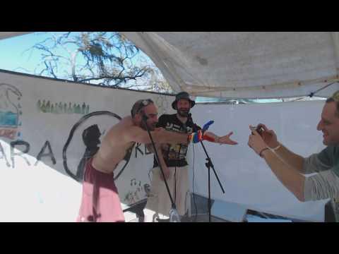 Ohadi Performing metallica - Enter Sandman [karaoke] In Midburnerot2016 30-12-2016
