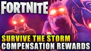 "Fortnite News ""Survive the Storm Compensation Rewards"" Fornite Survive the Storm Crashes"