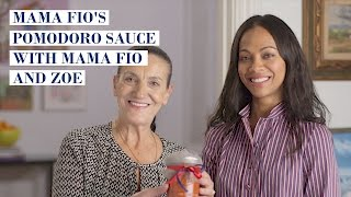 Pomodoro Sauce with Mama Fio and Zoe Saldana | My Family Recipe
