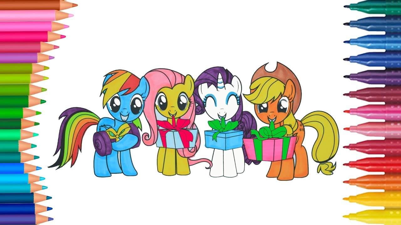 My Little Pony Mio Mini Pony Piccole Mani Libro Da Colorare