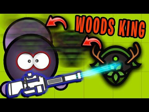 Surviv.io MINIGUN Vs WOODS KING HELMET BAIT!! (Survivio Woods Mode Update)