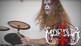MARDUK Equestrian Bloodlust drum cover - black metal