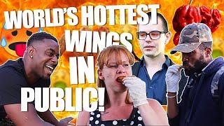 LV General World's Hottest Wings in Public! (MUM NEEDS AMBULANCE!!!)