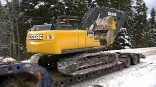 John Deere 210G Excavator Move