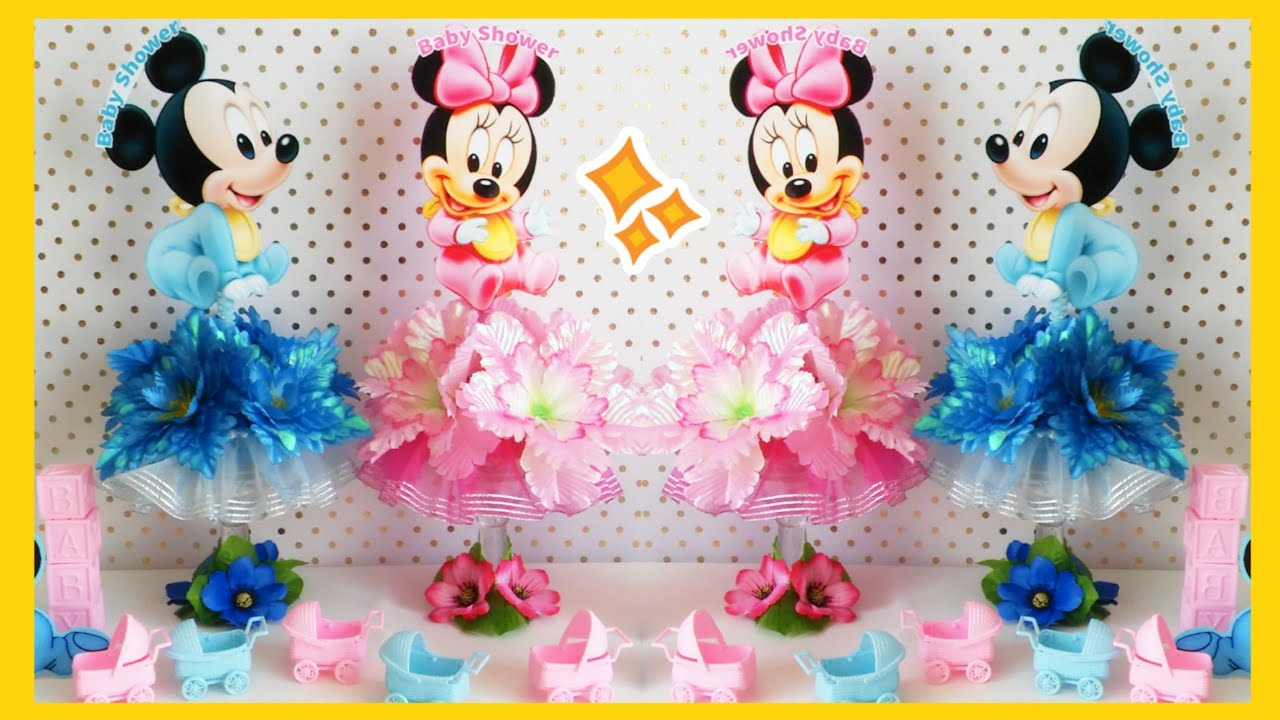 Decoracion Para Baby Shower De Baby Mickey Minnie Mouse