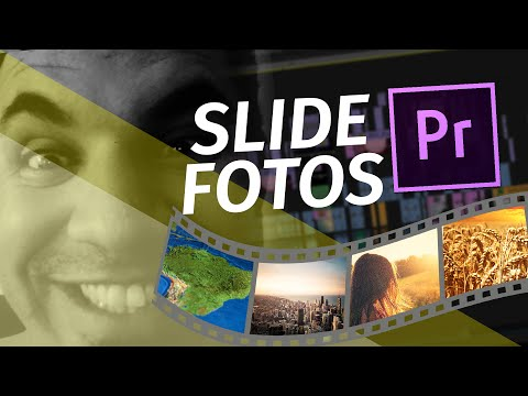 Como fazer Slide de fotos - Premiere Pro CC - Download free