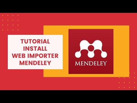 Mendeley Tutorial Part 3 - Install Web Importer Mendeley