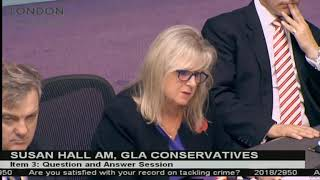 Susan Hall spit guards plenary