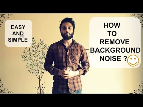 How To Remove Background Noise From Audio - Audio Editing