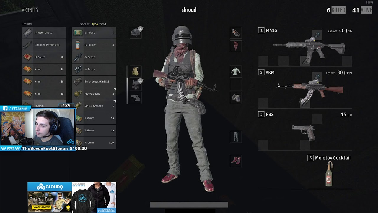 All Pubg Weapons Skins How To Get Them: THE KENNYS WITH KAR98K? (SHROUD INSANE PUBG SOLO