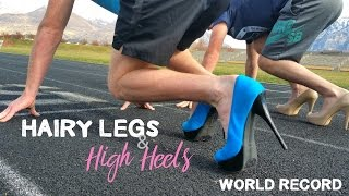 100m in HIGH HEELS by MEN!!! | WORLD RECORD thumbnail