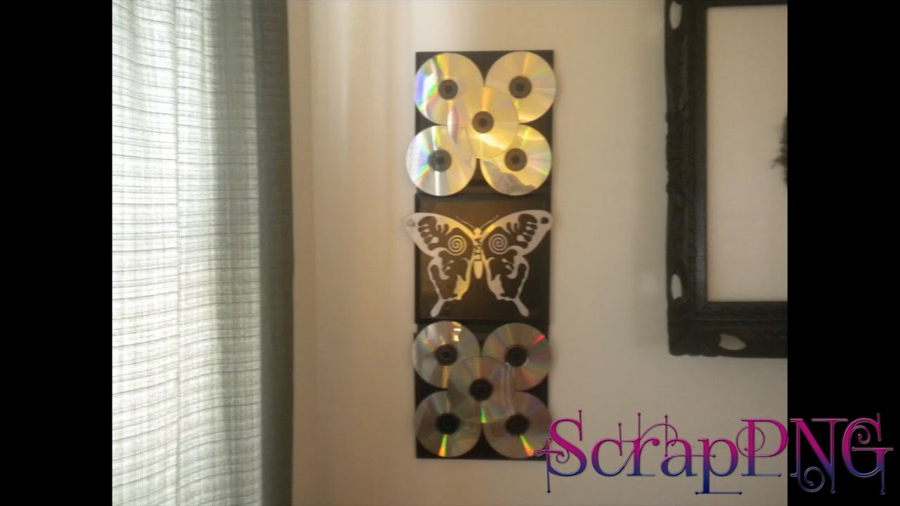 Cd wall decoration diy how to tutorial youtube for Art wall decoration