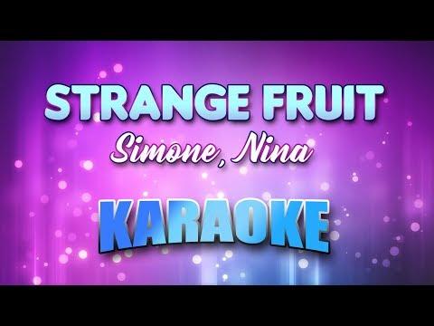 Simone, Nina - Strange Fruit (Karaoke & Lyrics)