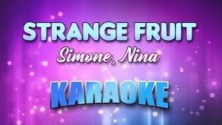 Simone Nina Strange Fruit Karaoke Lyrics