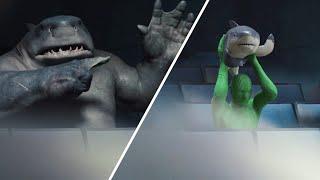 King Shark - Before & After VFX Breakdown scene
