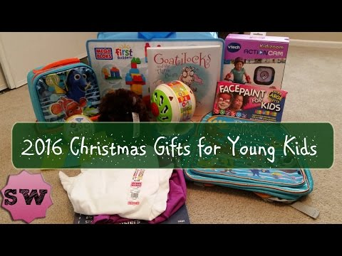Young Kids' Christmas Presents Haul - 2016 (Girls: 7, 5, & 3 Years Old; Boy: 15 Months Old)