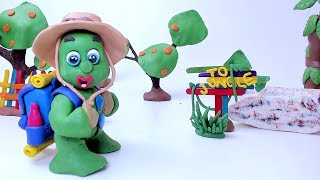 JUNGLE CAMPING! -In- Green Baby Fun Superhero Stop Motion Cartoons For Kids