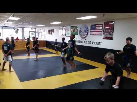 Teens speed rope