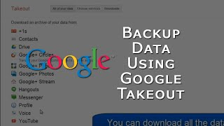 How to use Google Takeout