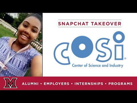 Lexi's Research Internship for COSI in Columbus, OH