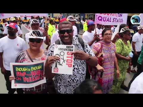Fiji Trade Union Congress holds march to protest against government