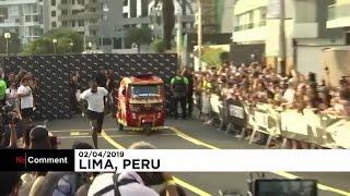 Mirá cómo el atleta Usain Bolt corre más rápido que un taxi