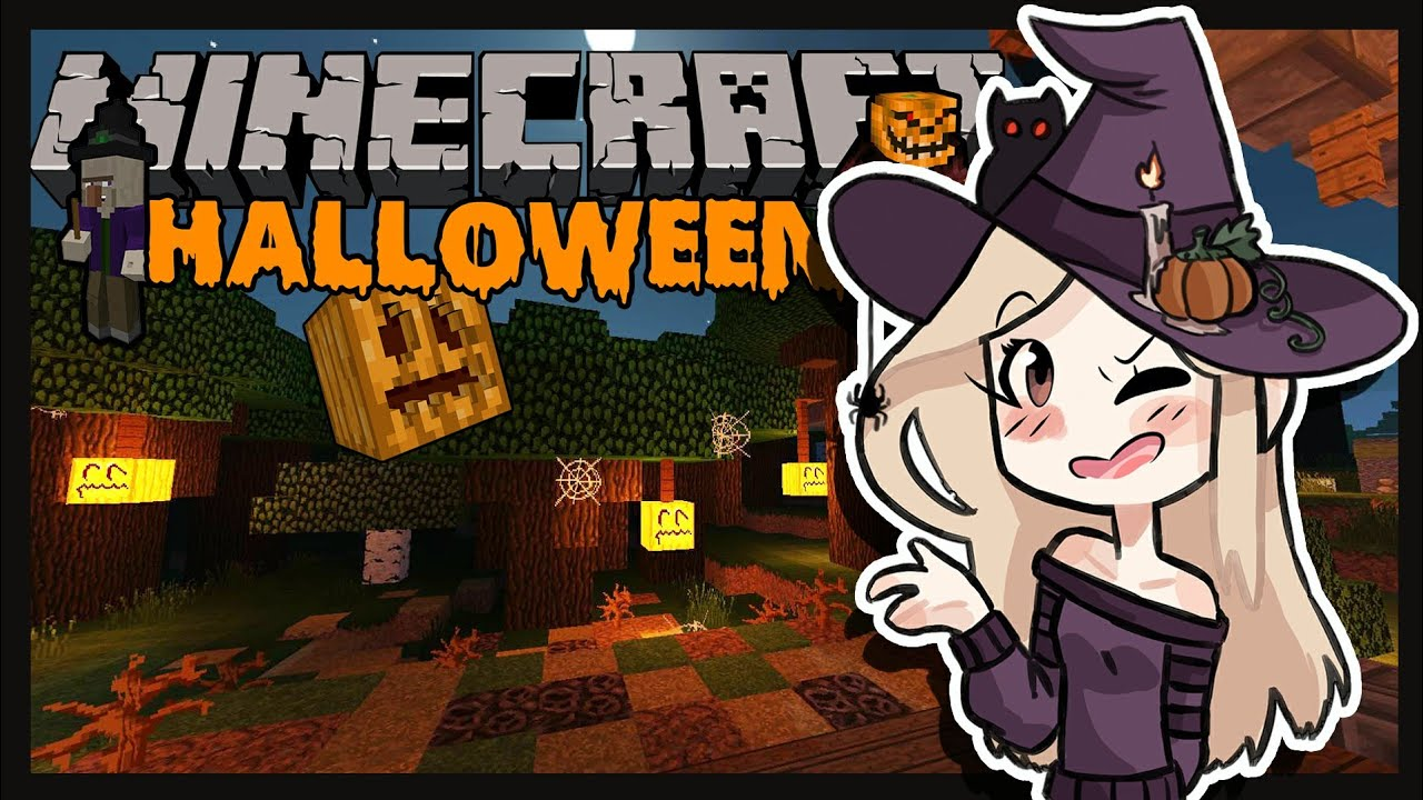D corer sa maison pour halloween astuce minecraft youtube - Decorer sa maison minecraft ...