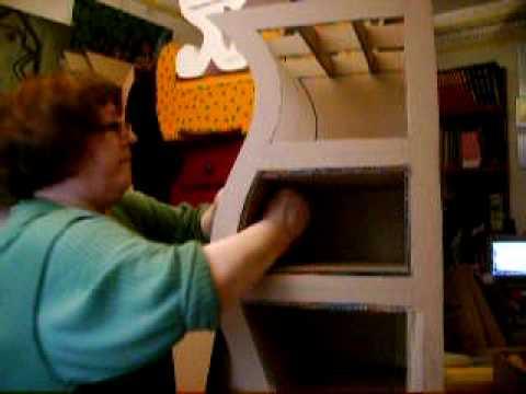 como se hace un mueble en cartonsegunda partewww