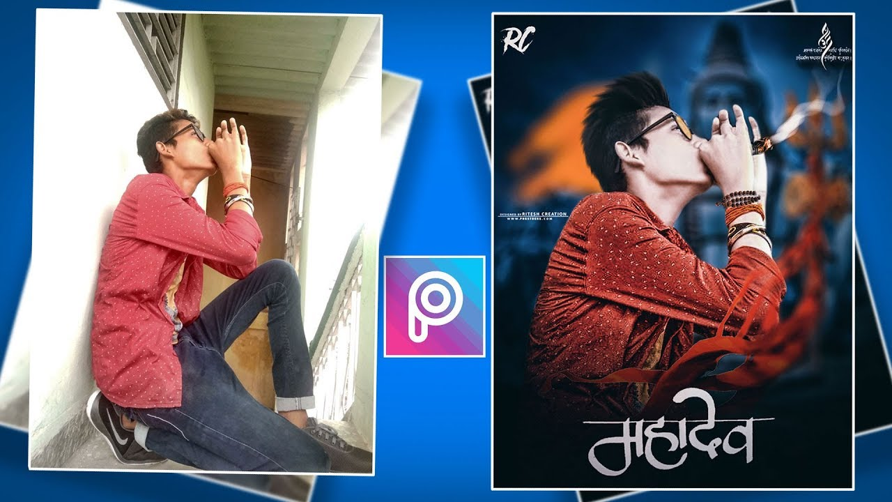 PicsArt Mahadev Shivratri Special editing || Mahadev hukka Photo