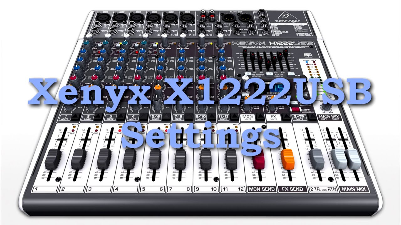 Behringer xenyx x1222usb drivers download