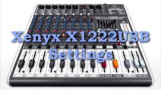 BEHRINGER Xenyx X1222USB Einstellungen