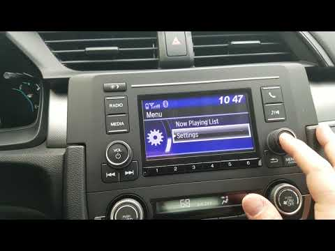 How to change the display and wallpaper in a Honda Civic LX