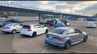 SOCAL EURO 2018 5CYL AUDI RS3/TTRS 1/8 MILE RACING TAKE OVER