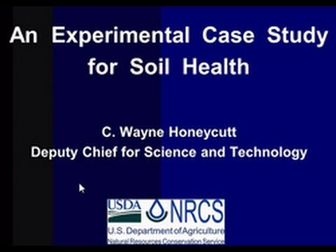 An Experimental Case Study for Soil Health