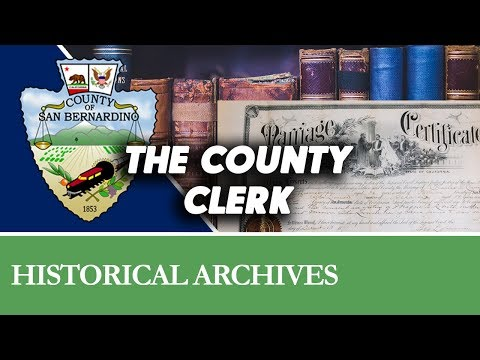 History of the County Clerk