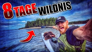 8 Tage Wildnis in SCHWEDEN #2 | Primitive Ausrüstung + Kajak | Bushcraft Survival | Fritz Meinecke