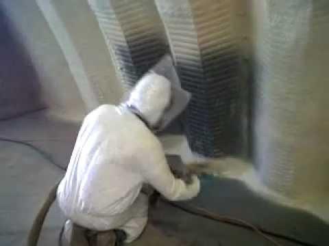 Foam Rise Insulation-Spray Foam Insulation on a metal building ( quonset hut )