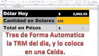 Plantilla Gratis: Dolar Hoy con Excel TRM Colombia