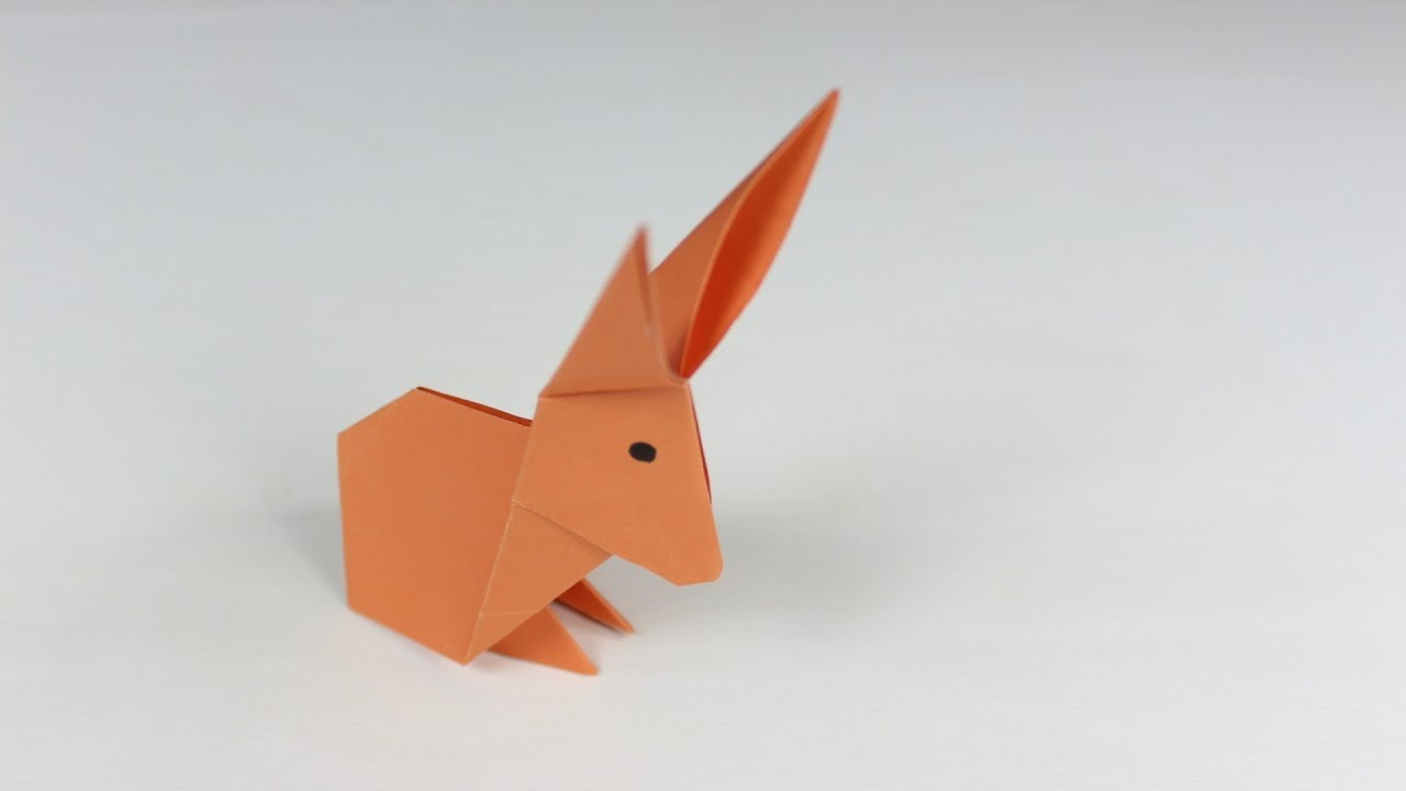 origami rabbit how to make a paper rabbit easy origami