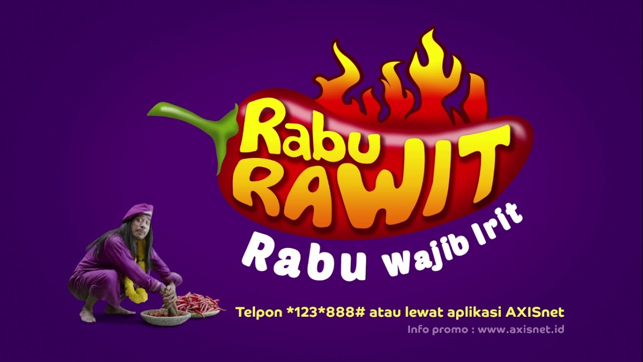Iklan TV AXIS  Paket Internet di Rabu Rawit IRITnya