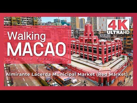 【Walking Macao 4K】Red Market to Ponte 16 Macau