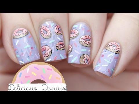 delicious donuts nail art