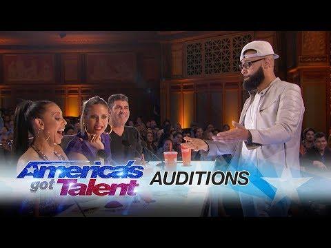 Eric Jones: Magician Shocks Mel B with Coin Trick - America's Got Talent 2017