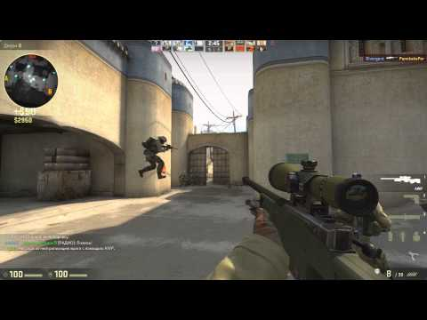 CS GO de_dust2 awp gameplay